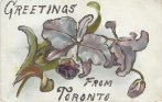 Toronto greetings postcard embossed floral