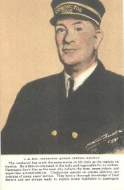 1C -  J.M. Roy, conduction, Quebec Central Railway