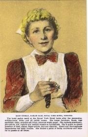 1X - Mary Dubray, parlor maid, Royal York Hotel, Toronto