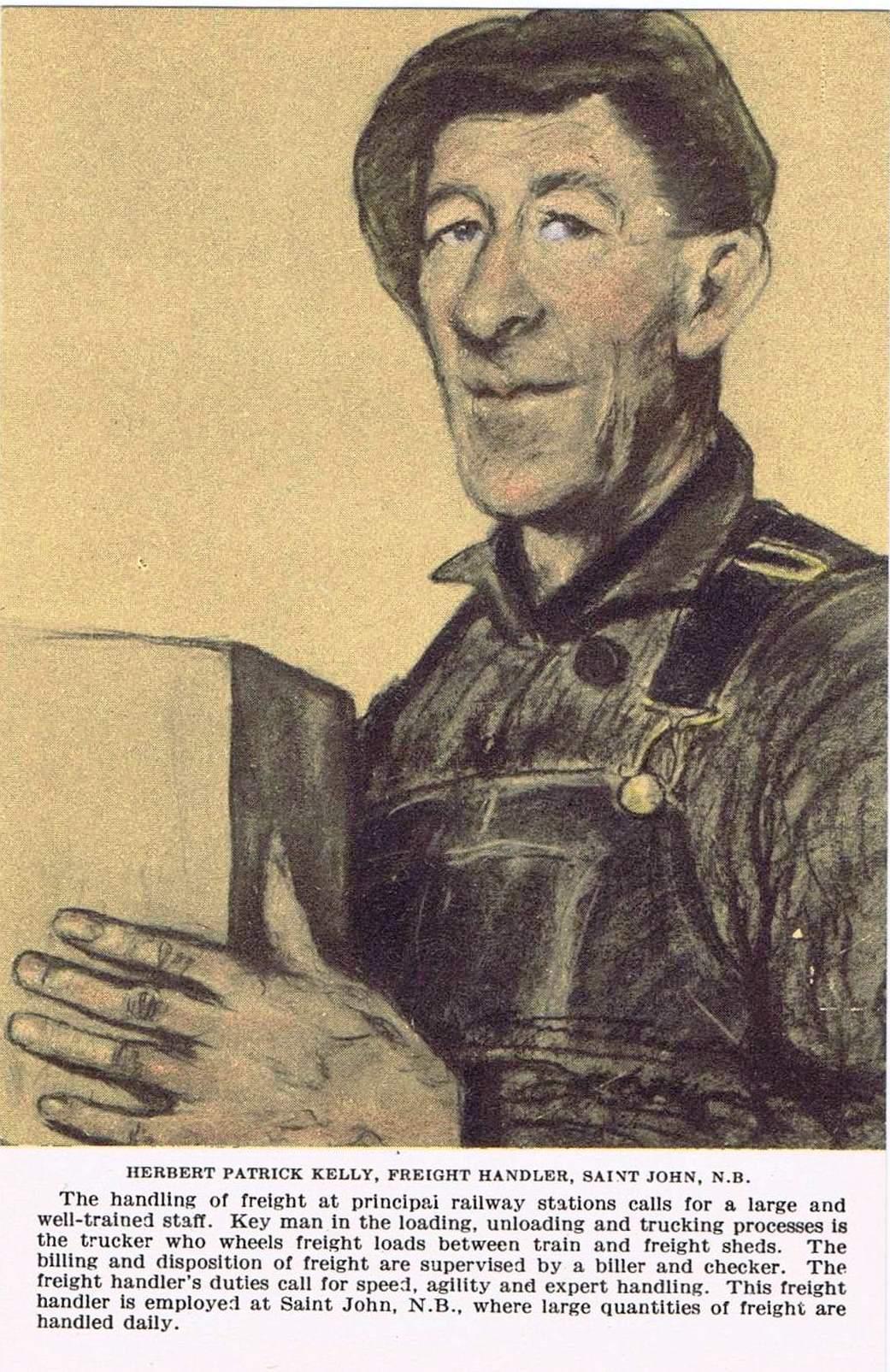 2H - Herbert Patrick Kelly, freight handler, Saint John, N.B.