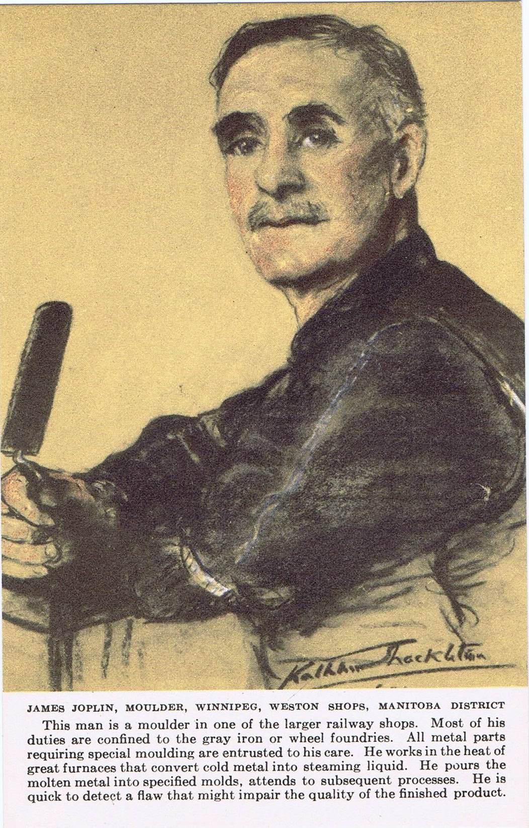 2D -James Joplin, moulder, Winnipeg, Weston Shops