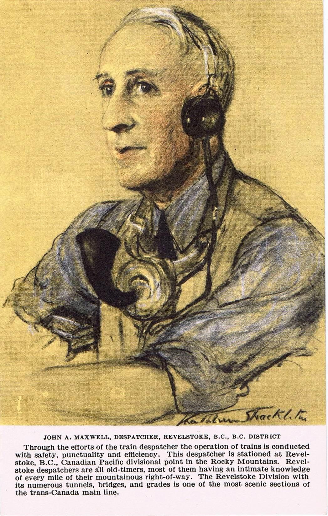 2A - John A. Maxwell, dispatcher, Revelstoke