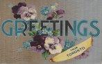 Toronto greetings postcard, texturedpansys