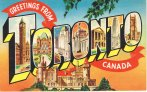 Toronto postcard large letter