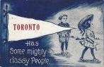 Toronto greetings postcard banner