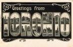 Toronto greetings postcard large letter B&W