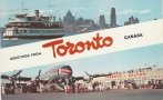 Toronto greetings postcard chrome