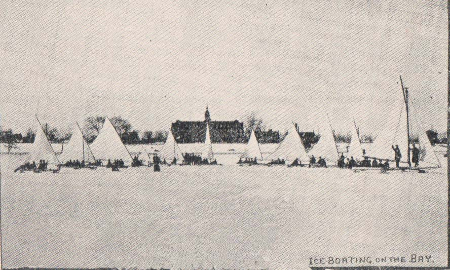 Ice Boating on the Bay of Quinte (behind is OIDD)