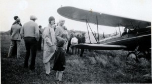 old airplane postcard