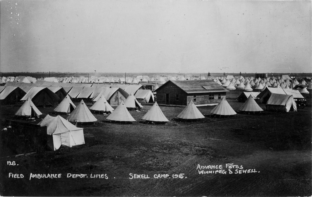 field-ambulance-depot-lines-sewell-camp-1915