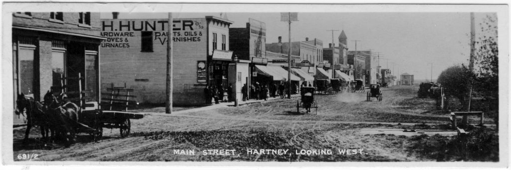 Hartney bookmark card, 1910