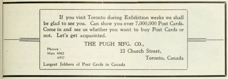 Pugh Postcards Toronto