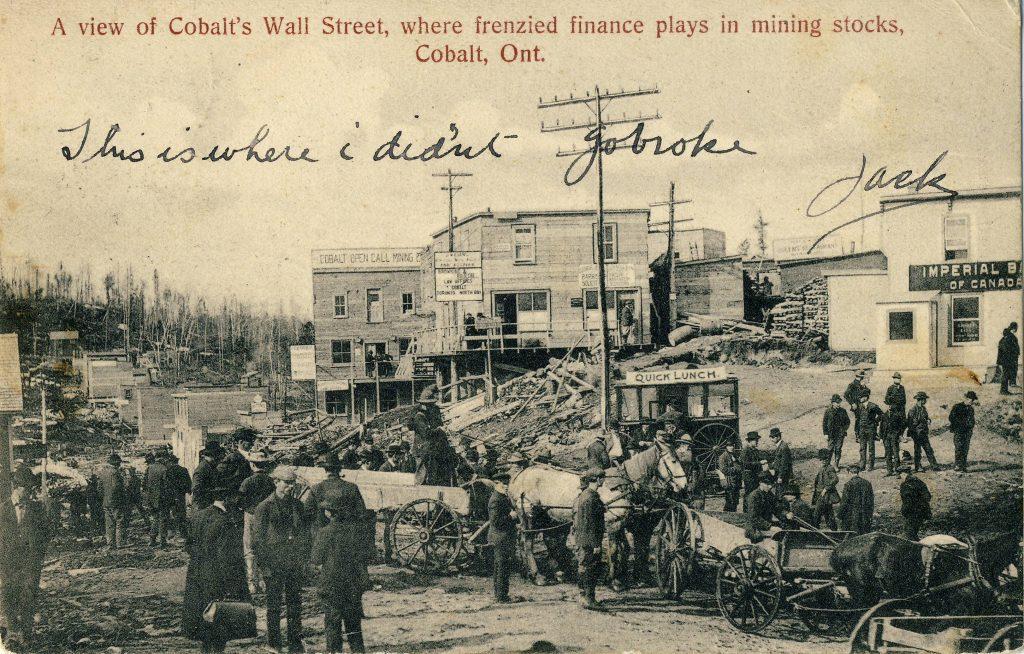 Copp, Clark postcard of Cobalt, Ontario